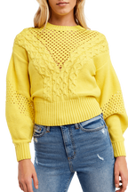MIX STICH KNIT in colour BUTTERCUP