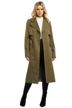 TRENCH COAT in colour BURNT OLIVE