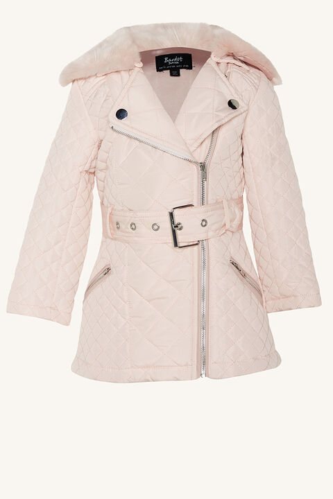 BABY GIRL GRACE QUILTED COAT   in colour PRIMROSE PINK