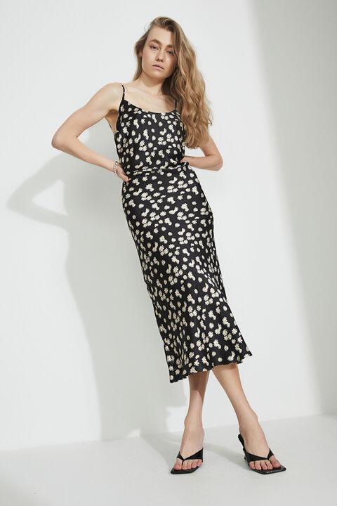 DAISY SLIP DRESS in colour MOLE