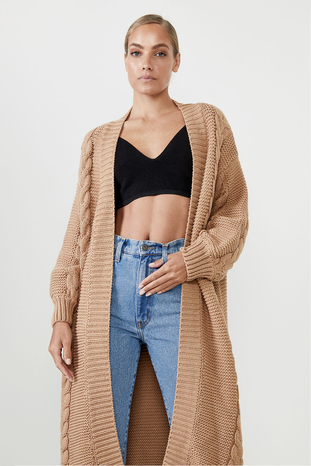GIA CARDIGAN in colour MOONLIGHT