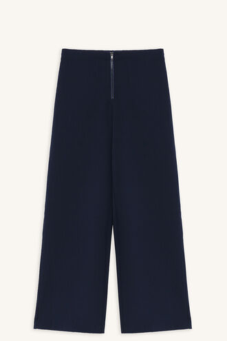 STEF WIDE CROP PANT in colour PATRIOT BLUE