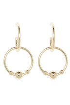 ETERNAL BALL DROP HOOPS in colour GOLD EARTH