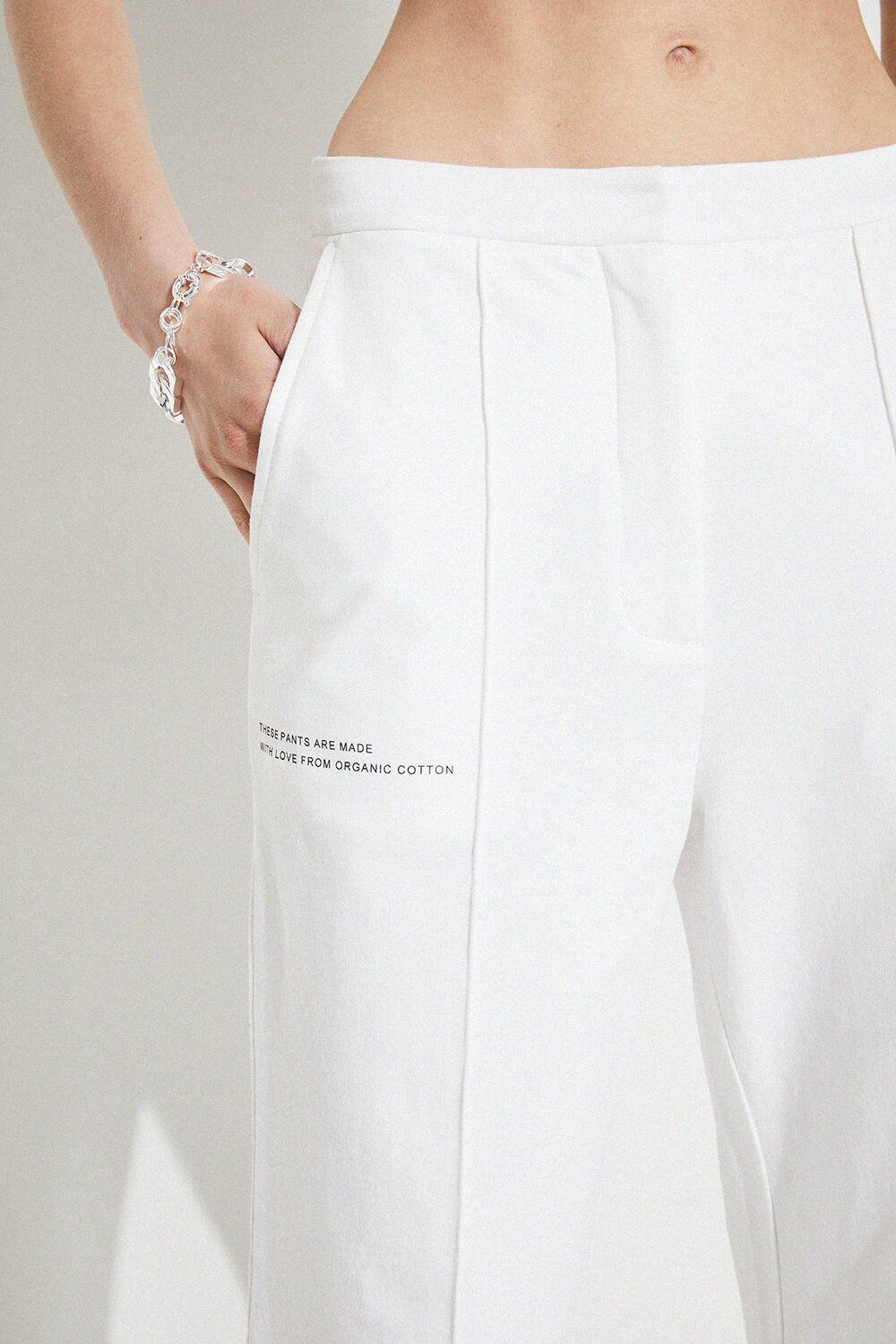 TAILORED TRACK PANT in colour BRIGHT WHITE