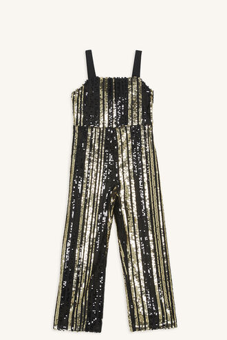 ILLY SEQUIN JUMPSUIT in colour JET BLACK