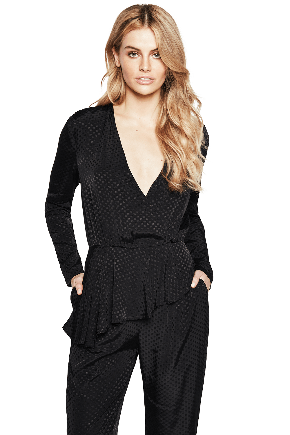 SKYLINE JUMPSUIT in colour CAVIAR