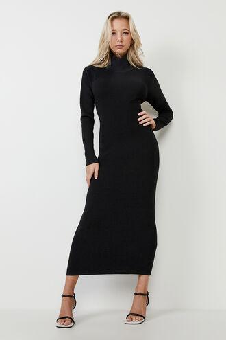 SANTI KNIT DRESS in colour CAVIAR