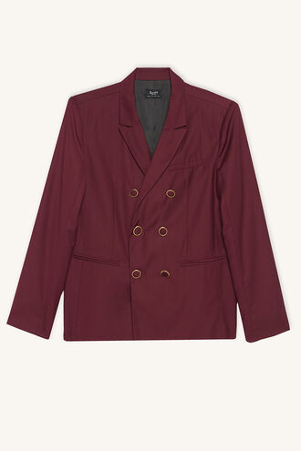 DBL BREASTD SUIT JKT in colour BURGUNDY
