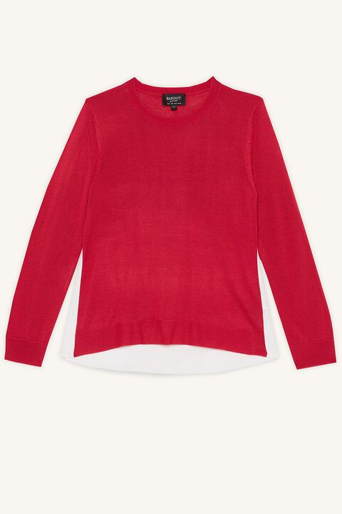 ELORA KNIT JUMPER in colour FUCHSIA PURPLE
