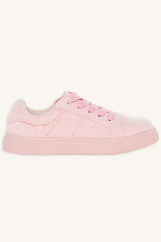 WINNIE FAUX SUEDE SNEAKER in colour PEACH