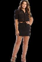 SAMIRA TOP in colour CAVIAR
