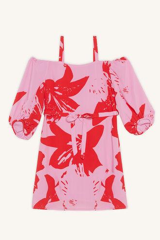 CAMILLA OFF SHOULDER DRESS in colour ALMOND BLOSSOM