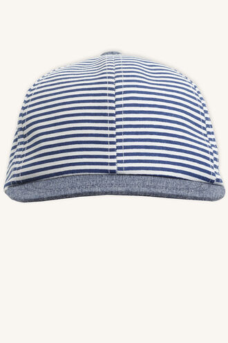 STRIPE TODDLER CAP in colour BLACK IRIS