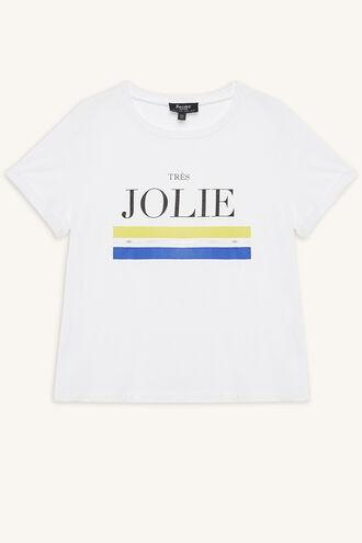JOLIE TEE in colour CLOUD DANCER