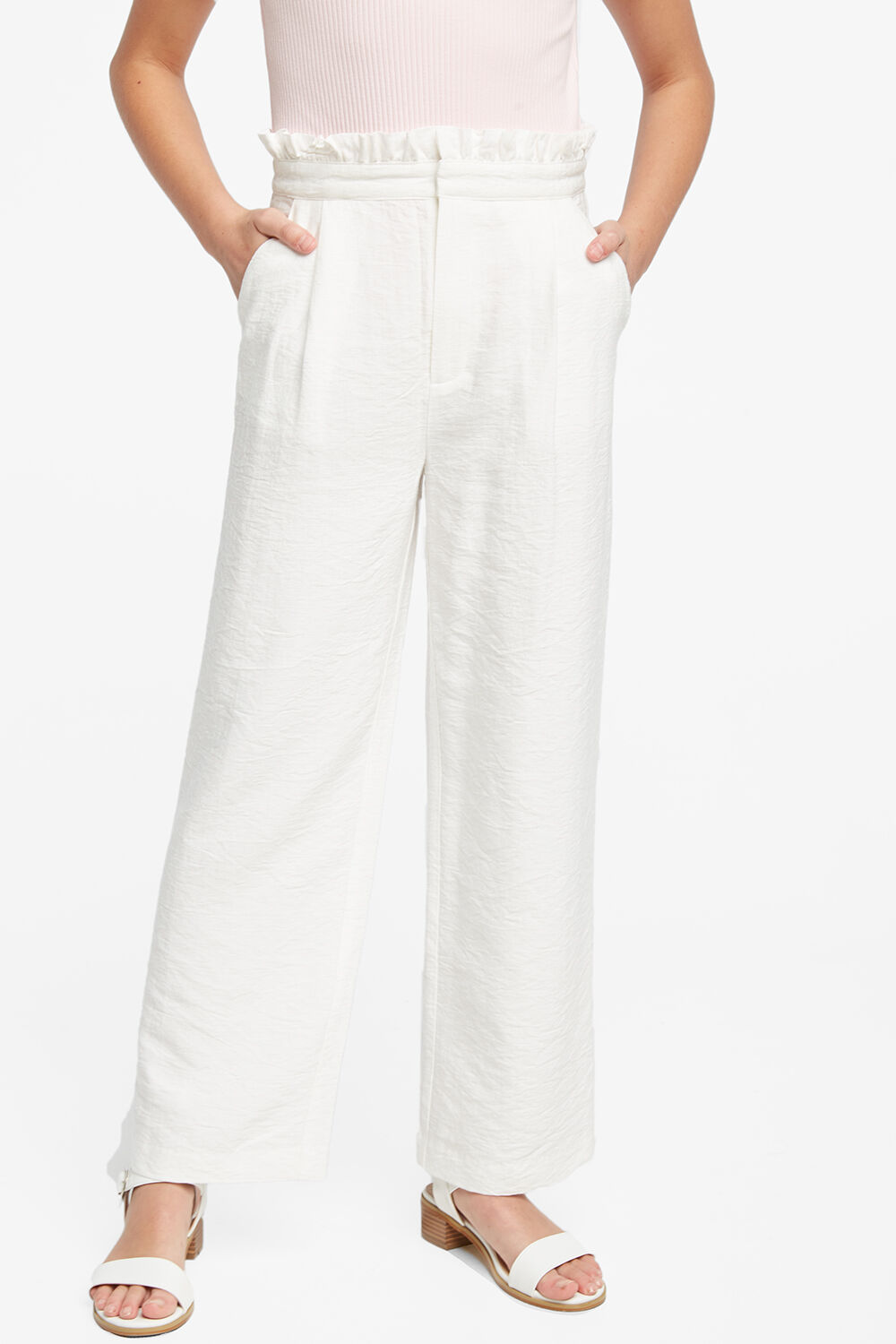 NATALIE CULLOTE PANT in colour CLOUD DANCER