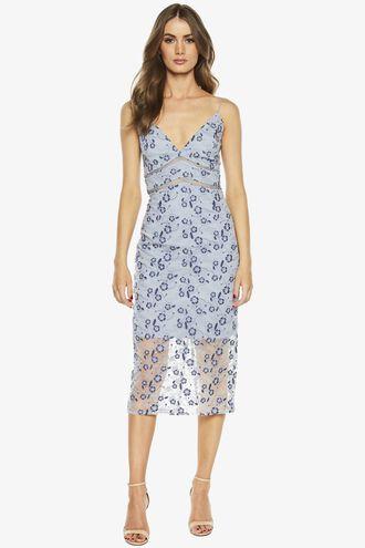 SAPPHIRE LACE DRESS in colour ASHLEY BLUE