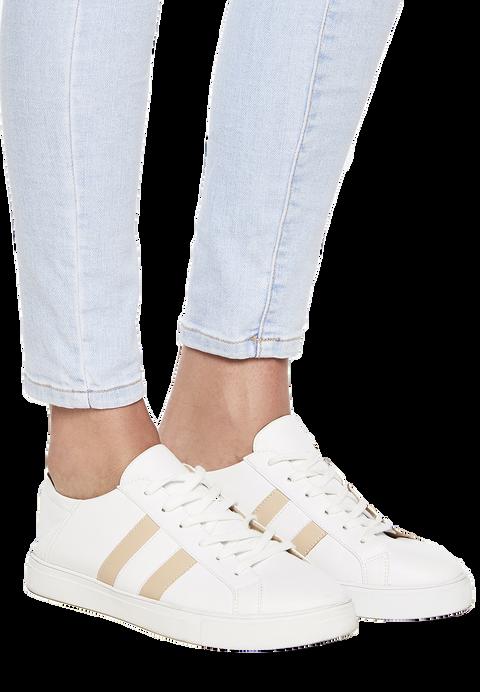 FLAT BACK SNEAKER in colour WHITE ALYSSUM