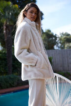 KARA FAUX FUR JACKET in colour ANTIQUE WHITE