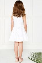 CLARA SHIMMER DRESS in colour CLOUD DANCER