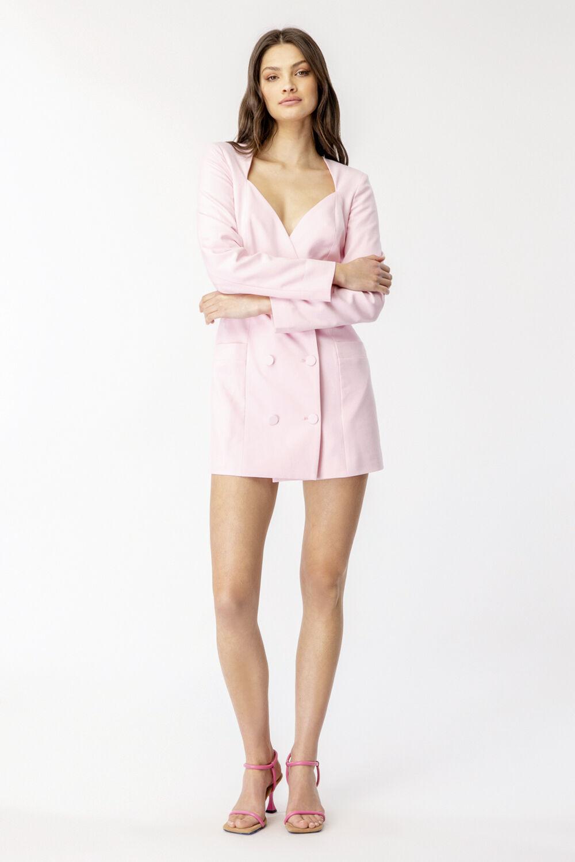 FRIDA BLAZER DRESS in colour SOFT PINK