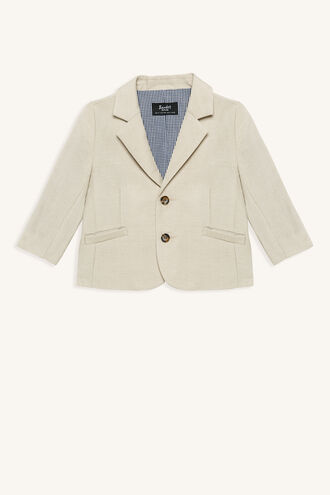 MILES LINEN BLAZER in colour MOONLIGHT