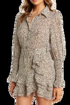 BESSIE MINI DRESS in colour EGRET