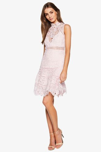 ELISE LACE DRESS in colour CRADLE PINK