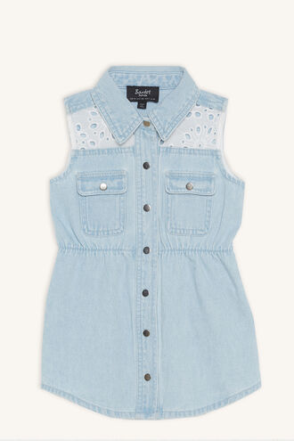 DAISY DUKE DRESS in colour BABY BLUE