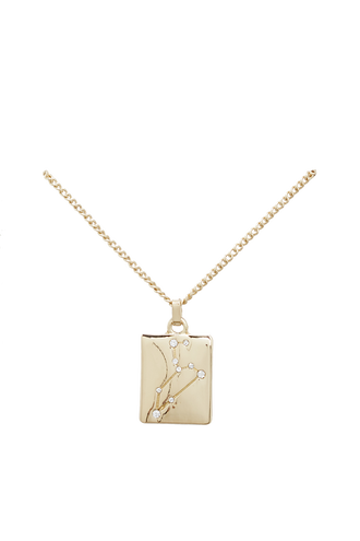 STAR SIGN NECKLACE in colour GOLD EARTH