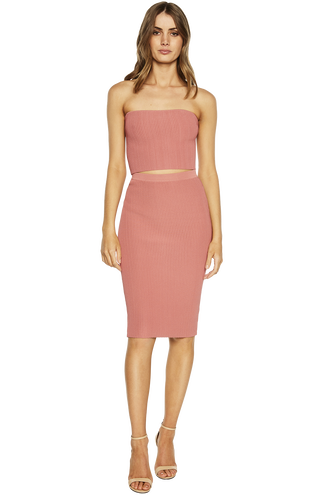 OTTOMAN BANDEAU TOP in colour MISTY ROSE