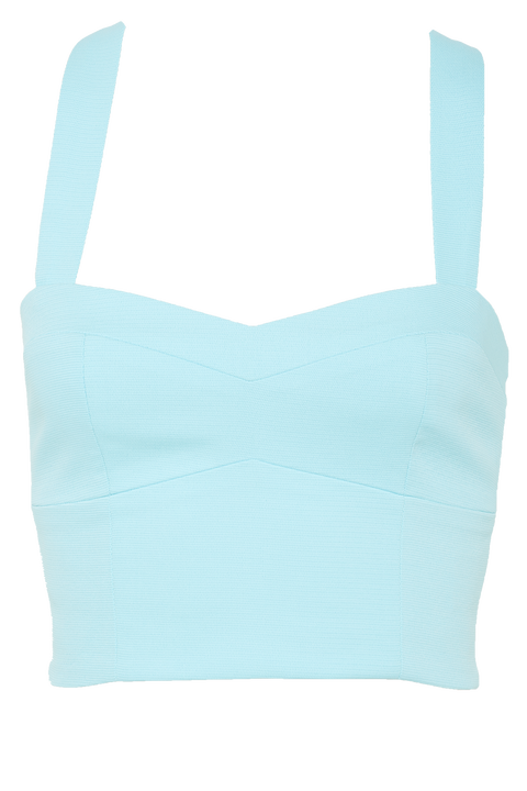 KEYLA TOP in colour TANAGER TURQUOISE