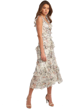 NELLY FLORAL DRESS in colour CLOUD DANCER