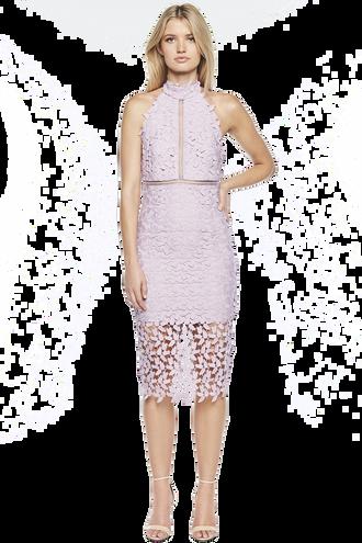 KARA HALTER DRESS in colour LILAC SNOW