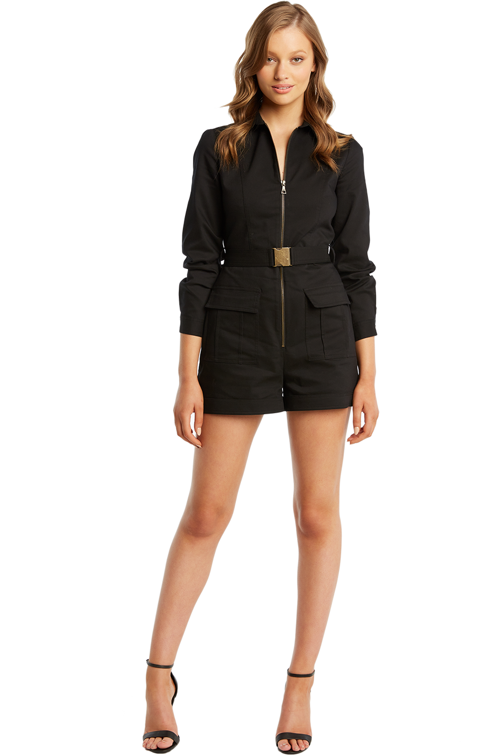 CARGO PLAYSUIT in colour CAVIAR