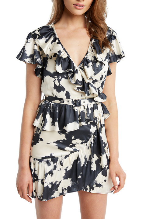 TIE DYE PRINT DRESS in colour MOOD INDIGO
