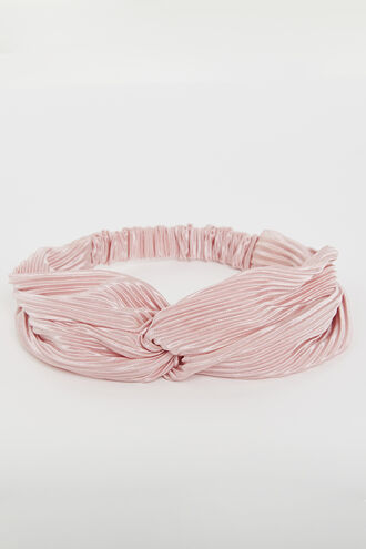 PLEAT TWIST HEADBAND  in colour PARADISE PINK
