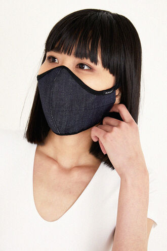 DENIM FACE MASK in colour TRUE NAVY