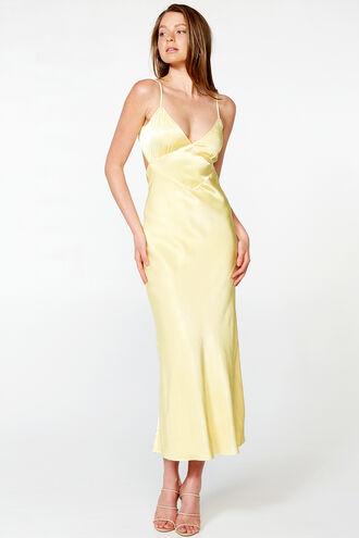 MALINDA SLIP DRESS in colour LIMELIGHT