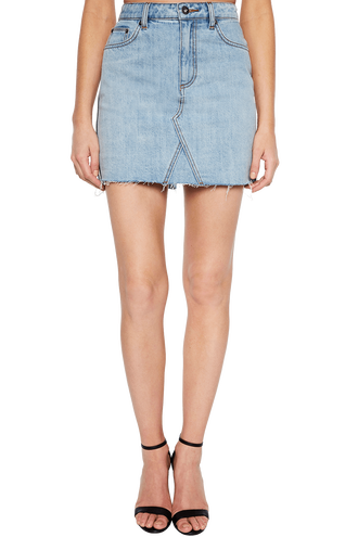 PIPA STRIPE DENIM SKIRT in colour WINTER SKY