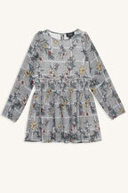 CICELY SHIRRED DRESS in colour LOTUS