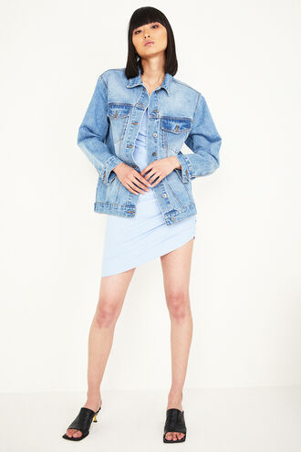 OVERSIZED DENIM JT in colour CITADEL