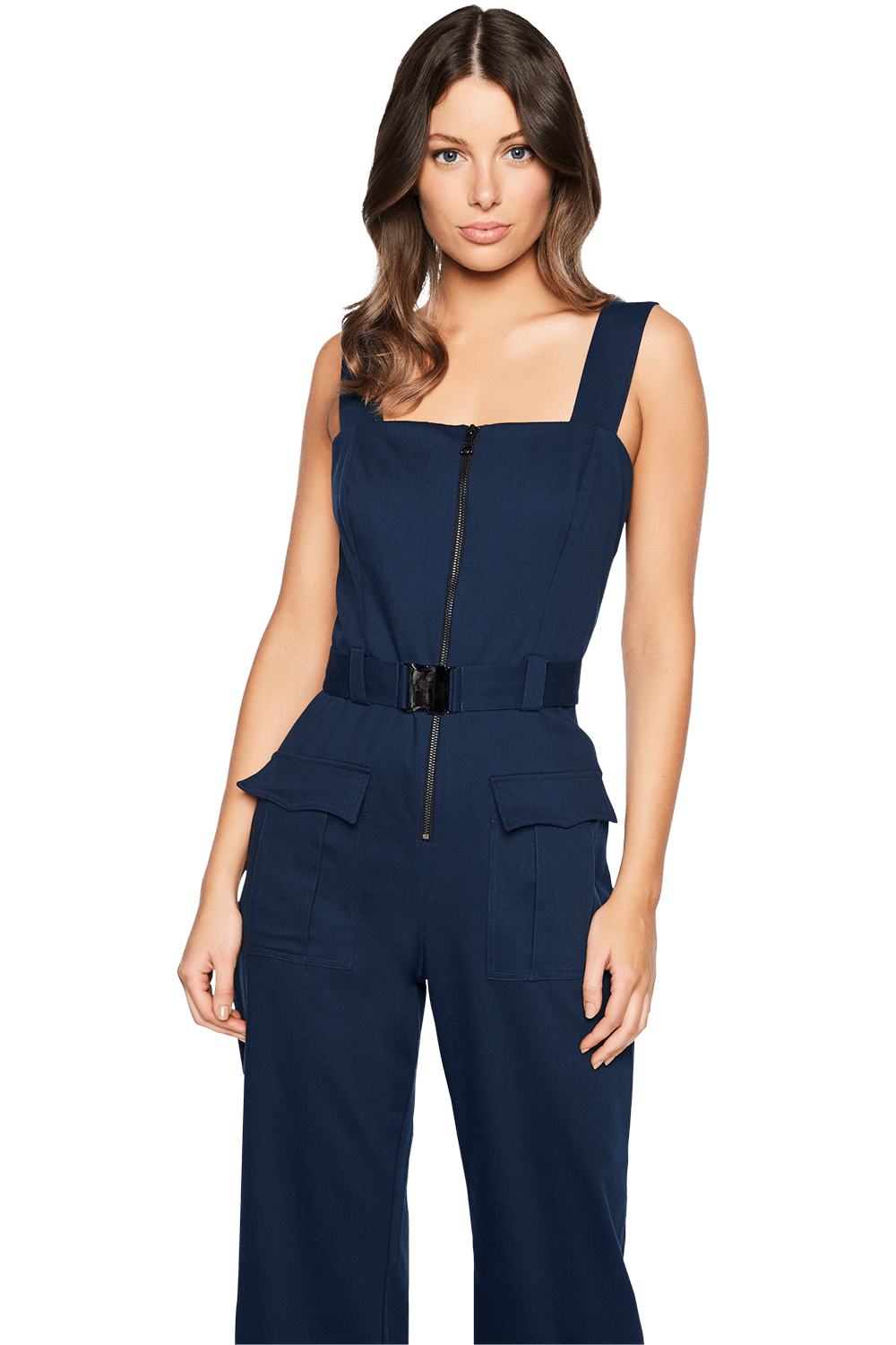 BUCKLE JUMPSUIT in colour DRESS BLUES