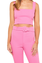 THERESE BUCKLE PANT in colour SACHET PINK