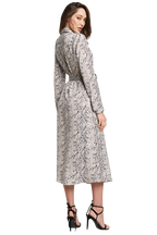 SNAKE SHIRT DRESS in colour BIRCH