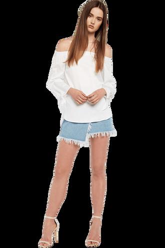 POPLIN TOP in colour BRIGHT WHITE