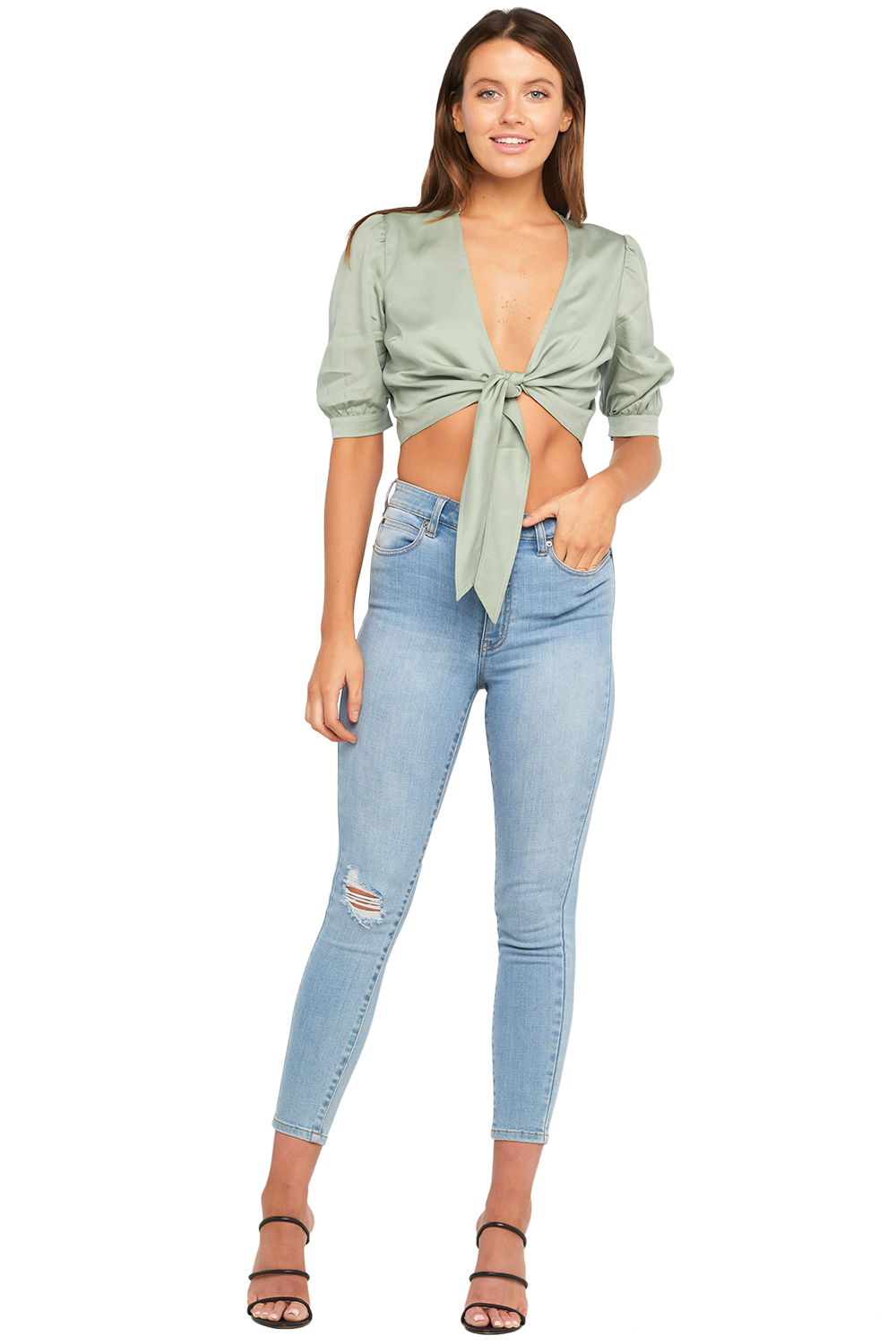 TIFFANY TIE TOP in colour ICEBERG GREEN