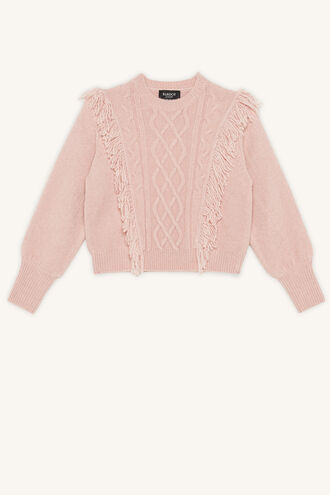 NELL CABLE KNIT in colour PARADISE PINK