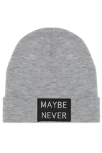 MAYBE NEVER BEANIE in colour GRAY MIST