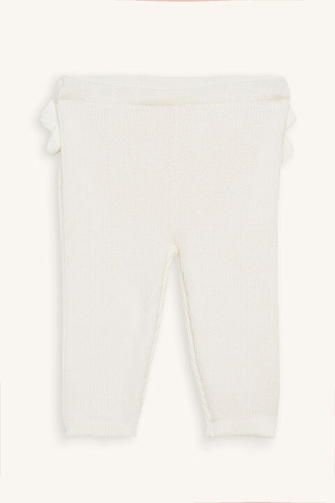 RUFFLE KNITTED PANT in colour WHISPER WHITE