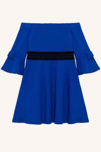 INGRID PONTI DRESS in colour CLASSIC BLUE